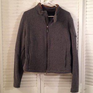 Ralph Lauren XL Grey Wool Zipped Jacket Coat